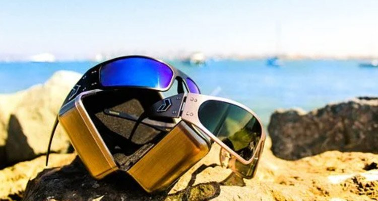 Two Pieces Sunglasses On Beach