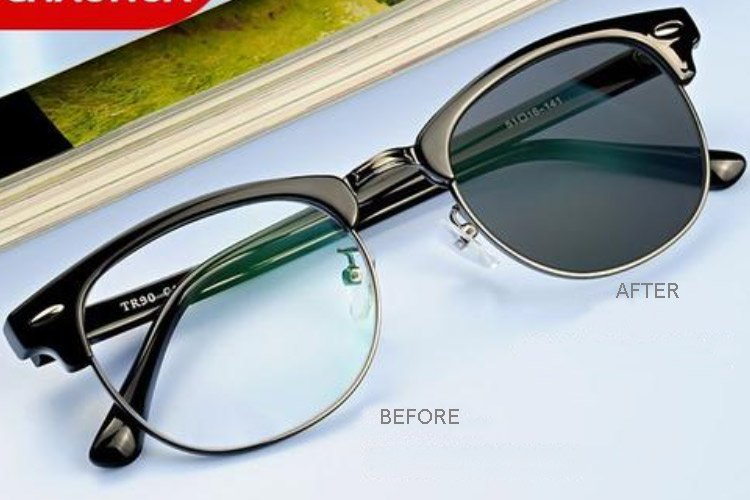 sunglasses lens color changing
